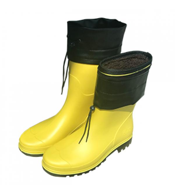 Kışlık PVC Kısa Çizme - Ayarlanabilir Boğazl...