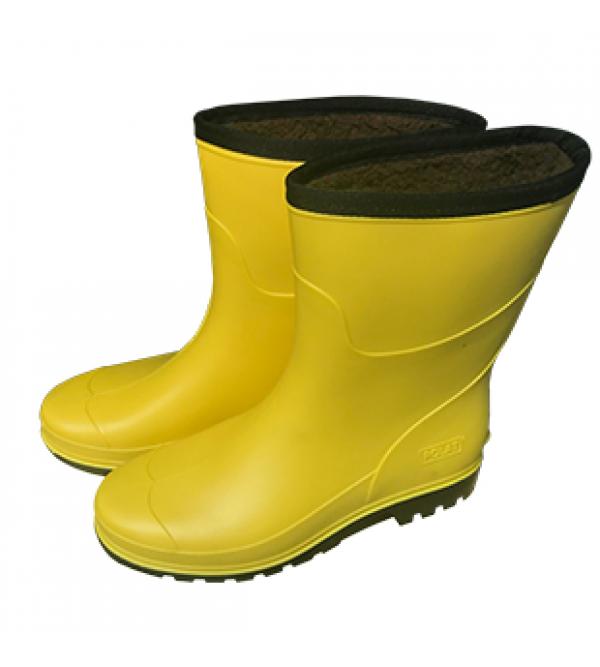 Kışlık Kısa PVC Çizme (Müflonlu)